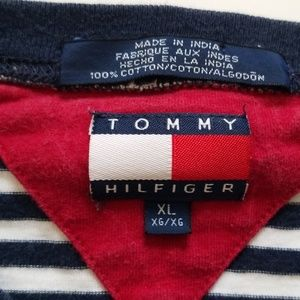 Tommy Hilfiger Shirts - Tommy Hilfiger | Vintage Striped White Navy Blue